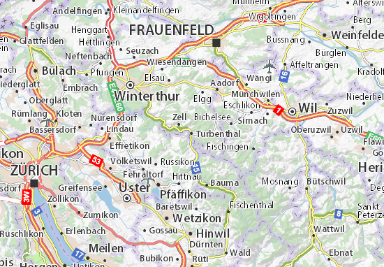 Turbenthal Map