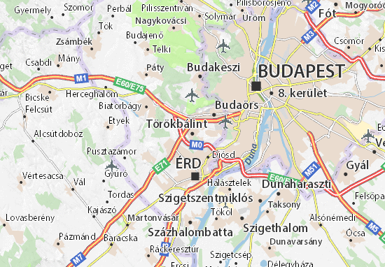 Karte Stadtplan Törökbálint