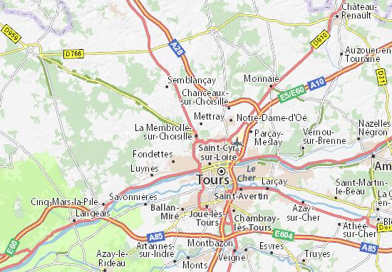 Mapas-Planos La Membrolle-sur-Choisille