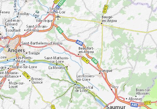 Mapa Plano Beaufort-en-Anjou