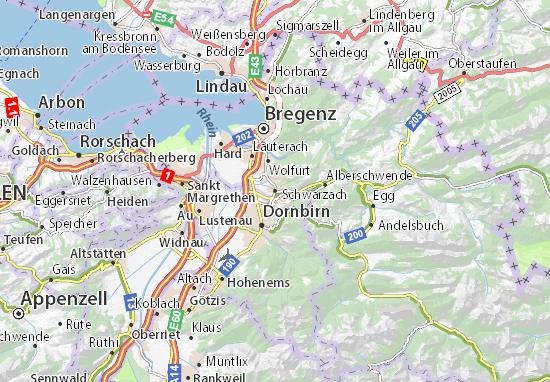 Schwarzach Map