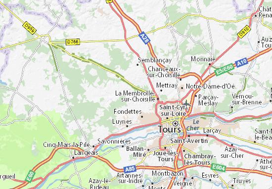 Carte D 233 Taill 233 E Saint Roch Plan Saint Roch Viamichelin