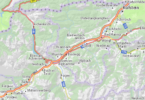 Karte Stadtplan Radfeld