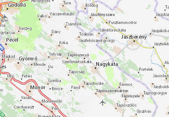 Mapas-Planos Szentmártonkáta