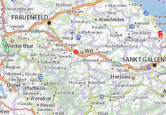 Karte Stadtplan Rickenbach