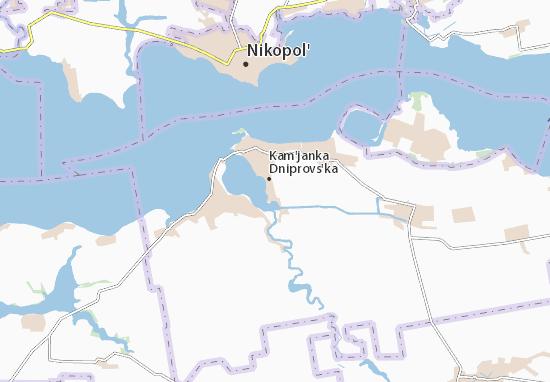 Mapa Plano Kam'janka Dniprovs'ka