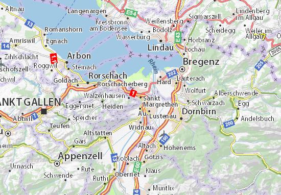Mapa Plano Sankt Margrethen