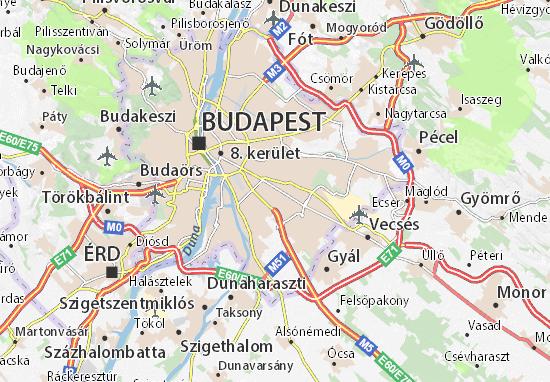 Map of Kispest Michelin Kispest map ViaMichelin – Budapest Tourist Map