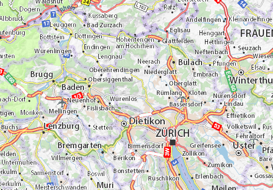 Karte Stadtplan Buchs