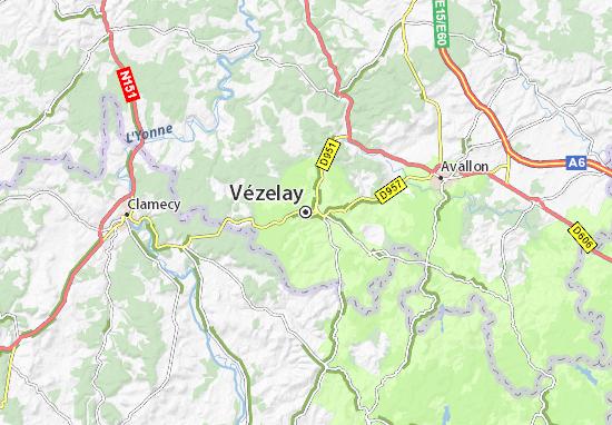 Vezelay France Map.Map Of Vezelay Michelin Vezelay Map Viamichelin