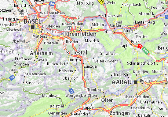 Sissach Map