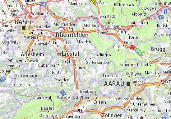 Karte Stadtplan Gelterkinden