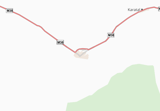 Kaart Plattegrond Zaysan