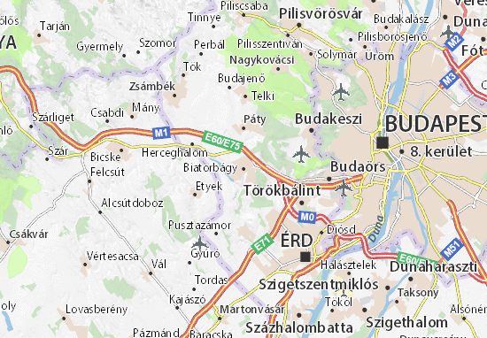 Biatorbágy Map
