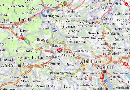 Mapa Plano Baden