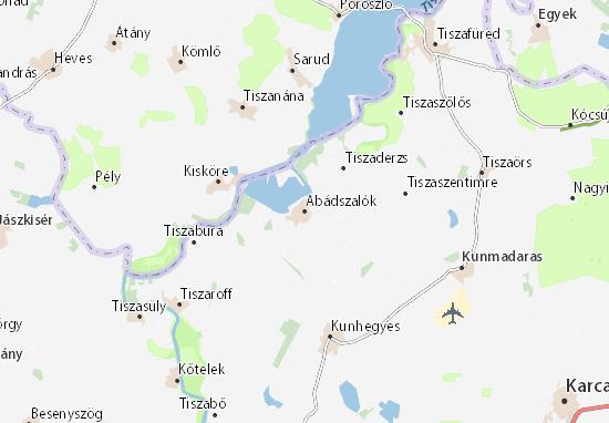 Abádszalók Map