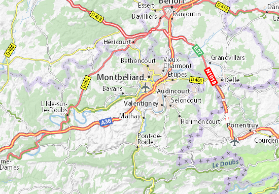 Mapa Plano Voujeaucourt