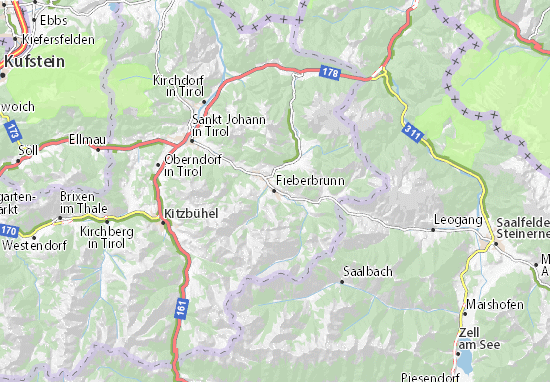 Fieberbrunn Map