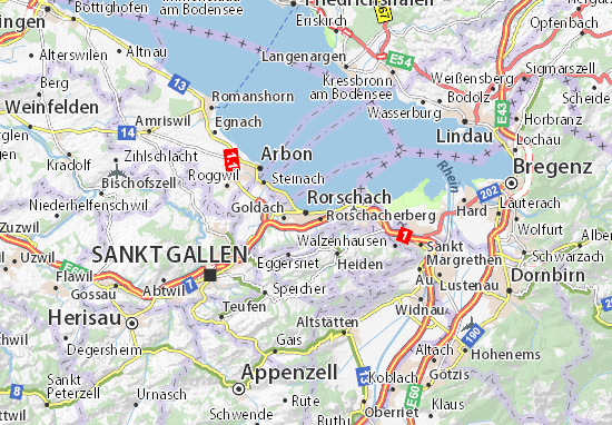 Karte Stadtplan Rorschach