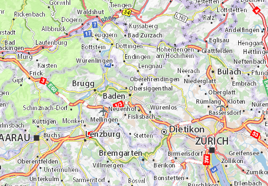 Carte-Plan Ennetbaden