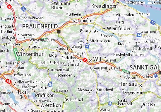 Karte Stadtplan Münchwilen