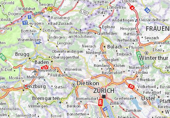 Karte Stadtplan Dielsdorf