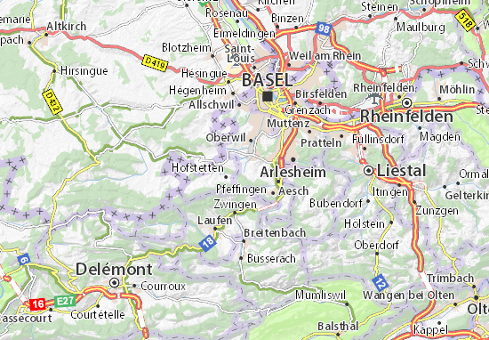 Ettingen Map