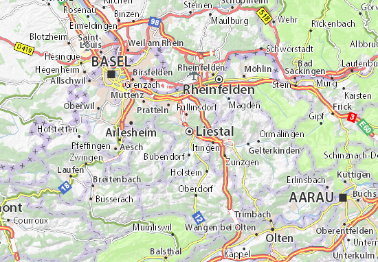 Carte-Plan Liestal