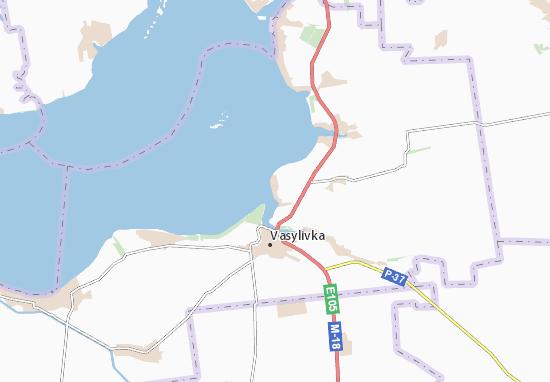 Verkhnya Krynytsya Map