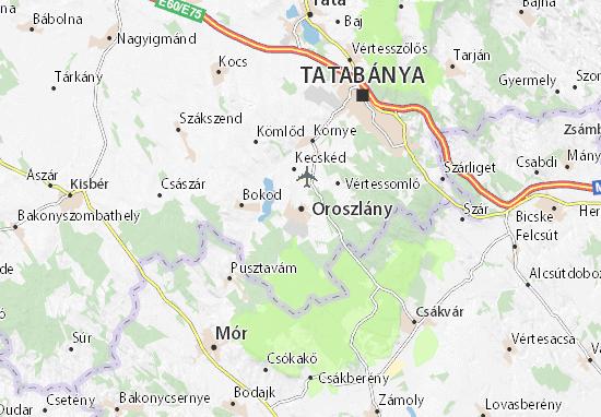 Karte Stadtplan Oroszlány