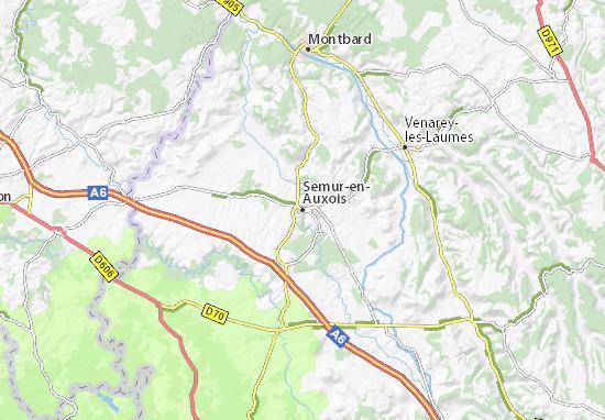 Kaart Plattegrond Semur-en-Auxois