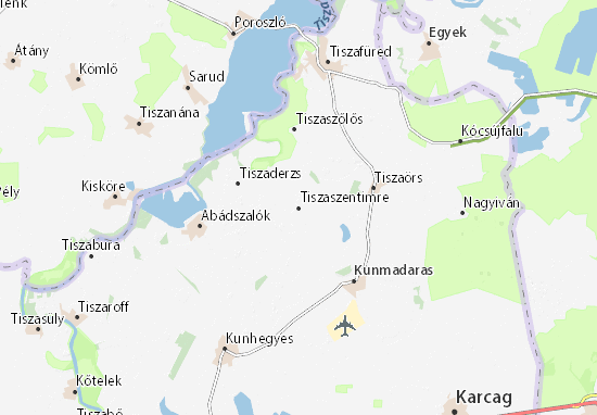 Tiszaszentimre Map
