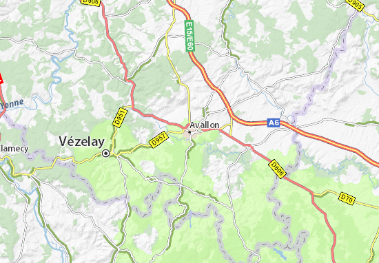 Avallon Map