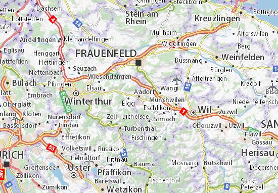 Karte Stadtplan Aadorf