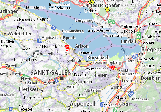 Karte Stadtplan Horn