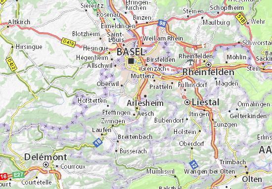 Karte Stadtplan Reinach