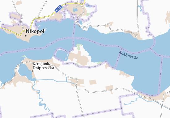 Enerhodar Map