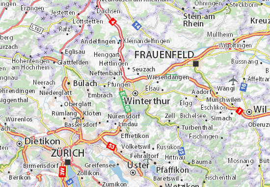 Carte-Plan Winterthur