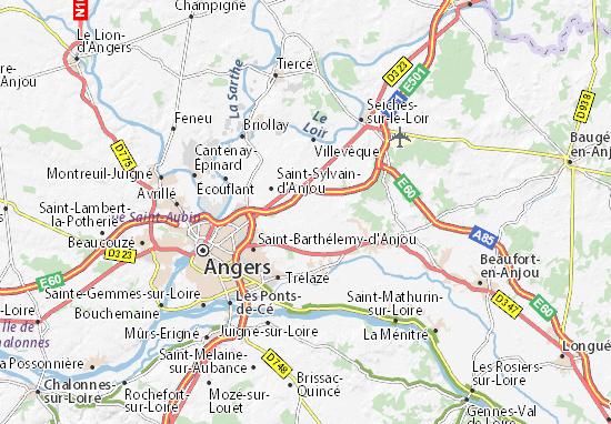 Mapas-Planos Le Plessis-Grammoire