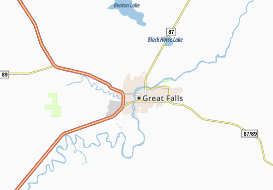 Carte-Plan Great Falls