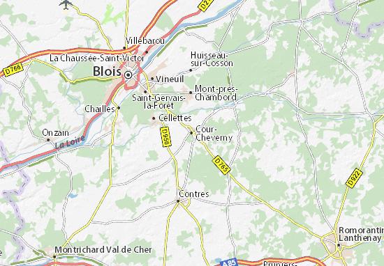 Kaart Plattegrond Cour-Cheverny