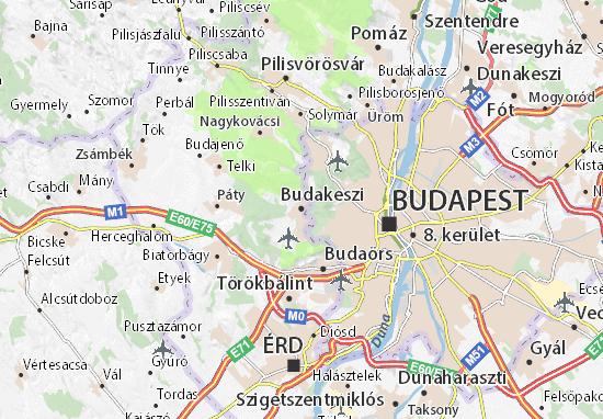 Budakeszi Map