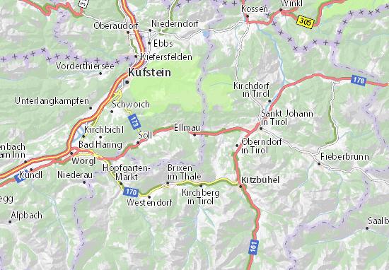 Karte Stadtplan Ellmau