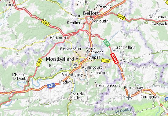Sochaux Map