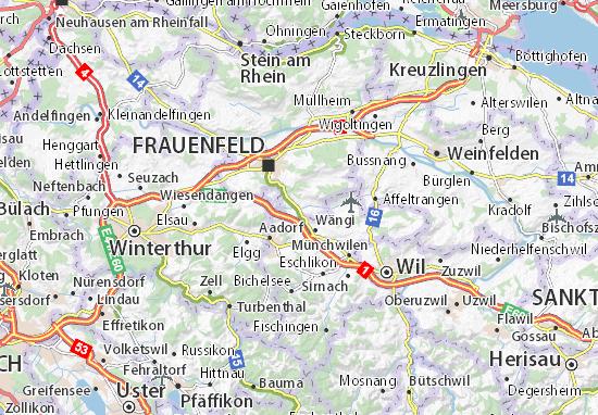 Karte Stadtplan Matzingen