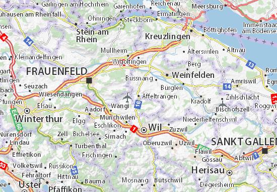 Karte Stadtplan Affeltrangen