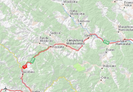 Câmpulung Moldovenesc Map