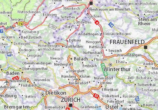 Karte Stadtplan Rorbas
