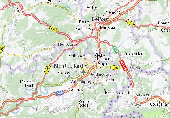 Carte-Plan Bethoncourt