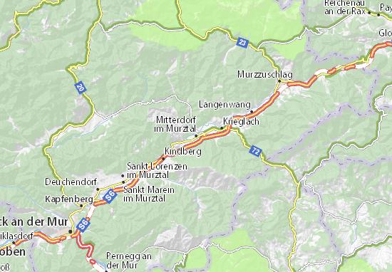 Mapa Plano Mitterdorf im Mürztal